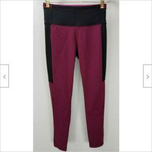 Lululemon black magenta back pocket leggins size 6